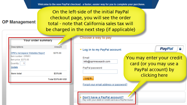 How to order via PayPal