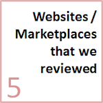 Websites, parts listing services and marketplaces which we studied